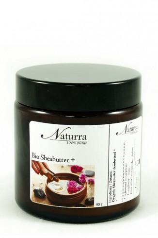 Naturra Wellnessöl Bio Sheabutter+ im lichtgeschützten Glastiegel